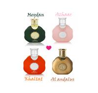Miniatures by lattafa 35ml UNISEX perfumes Alandalus, Azhaar, Khaltat and Meydan