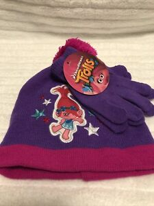 Trolls Stcking Cap And Gloves
