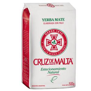 "YERBA MATE CRUZ DE MALTA 1.1LB/500 GRS GLUTEN FREE ""SHIP FROM USA"""