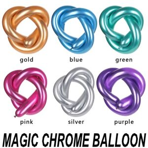 10-100 pcs Twisting Metallic Latex Balloon Chrome Long Magic Balloons Modelling
