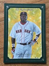2007 UD MASTERPIECES DAVID ORTIZ GREEN FRAME PARALLEL CARD No.14 Boston Red Sox