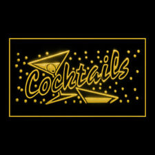 170007 Open Cocktails Bar Alcoholic Mint Lounge Pub Display Led Light Sign