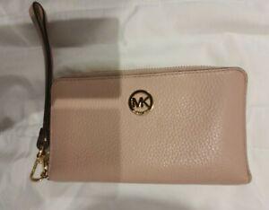 michael kors wallet pink phone case strap saffiano authentic