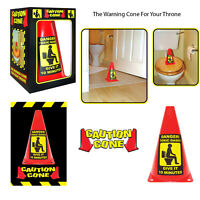 D Zine Caution Cone Toxic Gases Danger Toilet Bathroom Prank Joke Gift