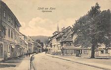 Ilfeld Harztor Ilgerstrasse mit Laden  Postkarte 1909