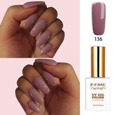 RS Nail Gel Nail Polish UV LED Sequined Varnish Soak Off UV Gel Red Brown Colour