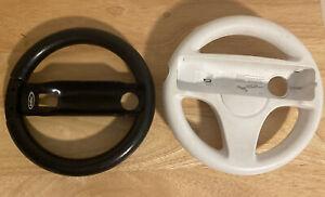 Wii Wheels for Nintendo Wi - 1 Official White wheel, 1 Black Generic brand wheel