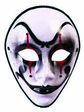 Mystery Circus Adult Jester Costume Halloween Clown Full Mask