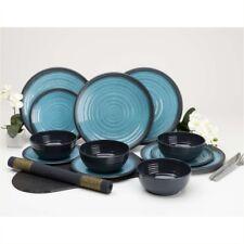 Flamefield Granite Aqua Dinner Set - Premium Melmaine 12 piece