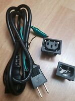 Power Cord With Ground And Two Adapters