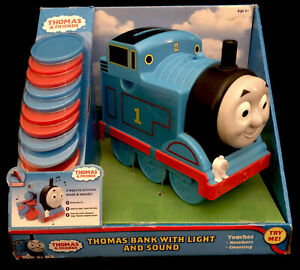 Thomas the Train-Bank With Light And Sound NIB Teaches Numbers And Counting-NEW-