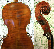 Superb Old 19th Century Italian Labeled Joseph Dall'Angelo 1830 Violin Grafted!