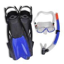Size L Adult Diving Equipment Set Dry Snorkel Fins Mask Goggles Scuba Gear Kit