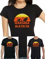 Ladies, mens and Childrens Lion King Hakuna Matata Simba Timon + Pumba T-shirt