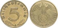 Drittes Reich 5 Pfennig 1936 A seltenes Jahr  sehr schön