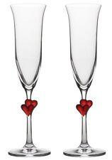 Sektglas Champagner Glas Herzen Amour Sektgläser Set 2teilig von GlasXpert