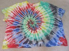 NIP MENS T-shirt 6X 6XL BIG S/S Tie-Dye Rainbow KING SIZE 100% Cotton