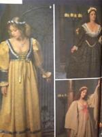 Simplicity Sewing Pattern 8192 Ladies / Misses Medieval Dresses Size 10-14 Uncut