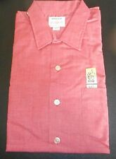NOS DONEGAL 50s Pink Mauve Iridescent Camp Loop Collar Long Sleeve  ROCKABILLY L