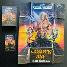 Golden Axe 🔥 Sega Genesis Box POSTER Manual Instruction Booklet 🔥 no game