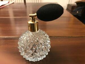 Vaporisateur à parfum en cristal taillé (vintage)