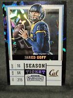 2017 Jared Goff RC Panini Contenders Draft Picks Season Ticket Cracked Ice 1/23!