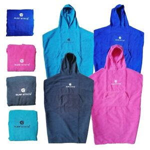 Surf State Adults Kids Poncho Towelling Robe Beach Microfibre Swim Surf Camp