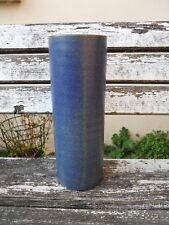 Mobach Hollande 1950-60 , Utrecht Vase rouleau en grès à couverte bleu , 28 cm