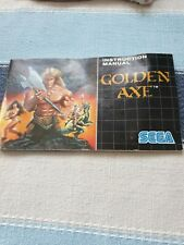 Golden Axe Instruction Manual - Sega MegaDrive - game