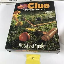 Clue Mystery Puzzle the Color of Murder Milton Bradley 500 pcs 13x20 Complete