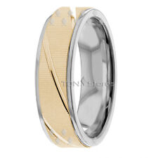 14K SOLID GOLD MENS WOMENS WEDDING BANDS RINGS HIS & HERS MATCHING RING BAND SET