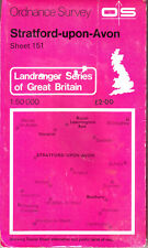 Stratford Upon Avon Ordnance Survey Map Vgc !