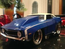 MUSCLE MACHINES 1969 CHEVROLET CAMARO 1:24 SCALE CUSTOM MODIFIED BLUE