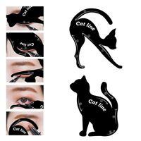 Cat Eyeliner Stencils Models Template Draw Eye Line Shadow Shaper Makeup Tool