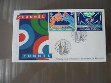 1994 LOT DE 62 ENVELOPPES PREMIER JOUR FRANCE / FDC / CHANNEL TUNNEL SOUS MANCHE