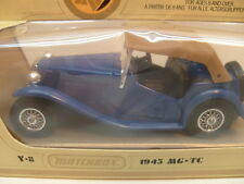 1978 MATCHBOX LESNEY MODELS OF YESTERYEAR Y-8 BLUE 1945 MG TC MIB