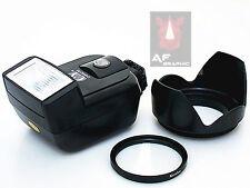 CK15 UV Filter + Lens Hood + Camera Flash for Canon T5i T5 T4i T3i 18-55mm Lens