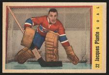 1958-59 PARKHURST ~ #22 ~ JACQUES PLANTE ~ CENTERED ~ MONTREAL CANADIENS