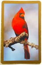 SWAP CARD. RED MALE CARDINAL BIRD. REDBIRD, SONGBIRD. CONGRESS. STATE EMBLEM