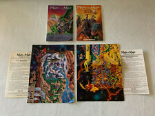 Might And Magic IV V Clouds & Darkside of Xeen, Original Map & Manuals (NO GAME)