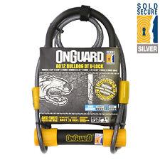 Magnum Onguard 8012 Shackle Lock & Cable Silver Sold Secure Bike D U Lock