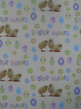 Easter Theme Wrapping Paper Sheets