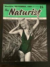Vintage 1956 nudist naturist magazine sunbathing journal  sun November