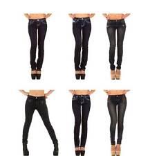 L32 Indigo -/Dark-Wash Damen-Jeans aus Denim mit niedriger Bundhöhe
