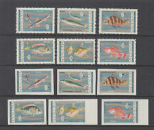 Vietnam Sc 463 - 468 Fish Set XF NH NGAI Imperforated + Perforated (Dem)