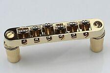 GOLD Roller Tune-o-Matic Bridge Metric for Epiphone & Import Les Paul Guitar