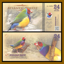 Atlantic Forest 24 Aves Dollars, 2016 Gouldian Finch Unc