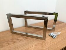 REDUCED 2 x Stainless Shelf Support Brackets 43cm x 25cm +Fixings +Shelf Clamps