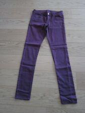 H&M super Stretch Hose Chino coloured Jeans dunkel pink Gr. 38 TOP