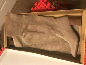 Jessica Simpson Suede Over The Knee Ebyy Boots - Slater Taupe